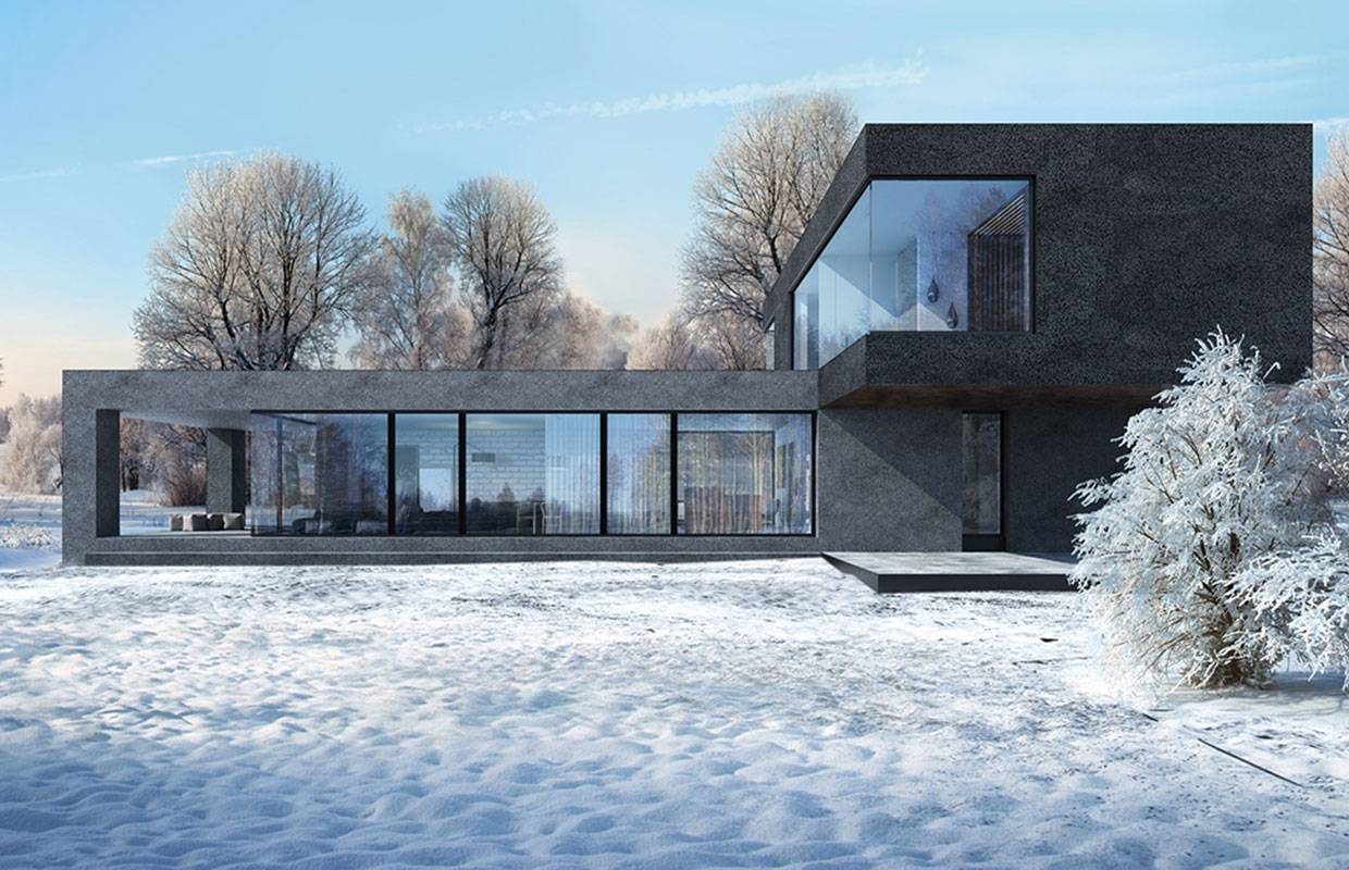 Architectural project of houses in the Czech Republic