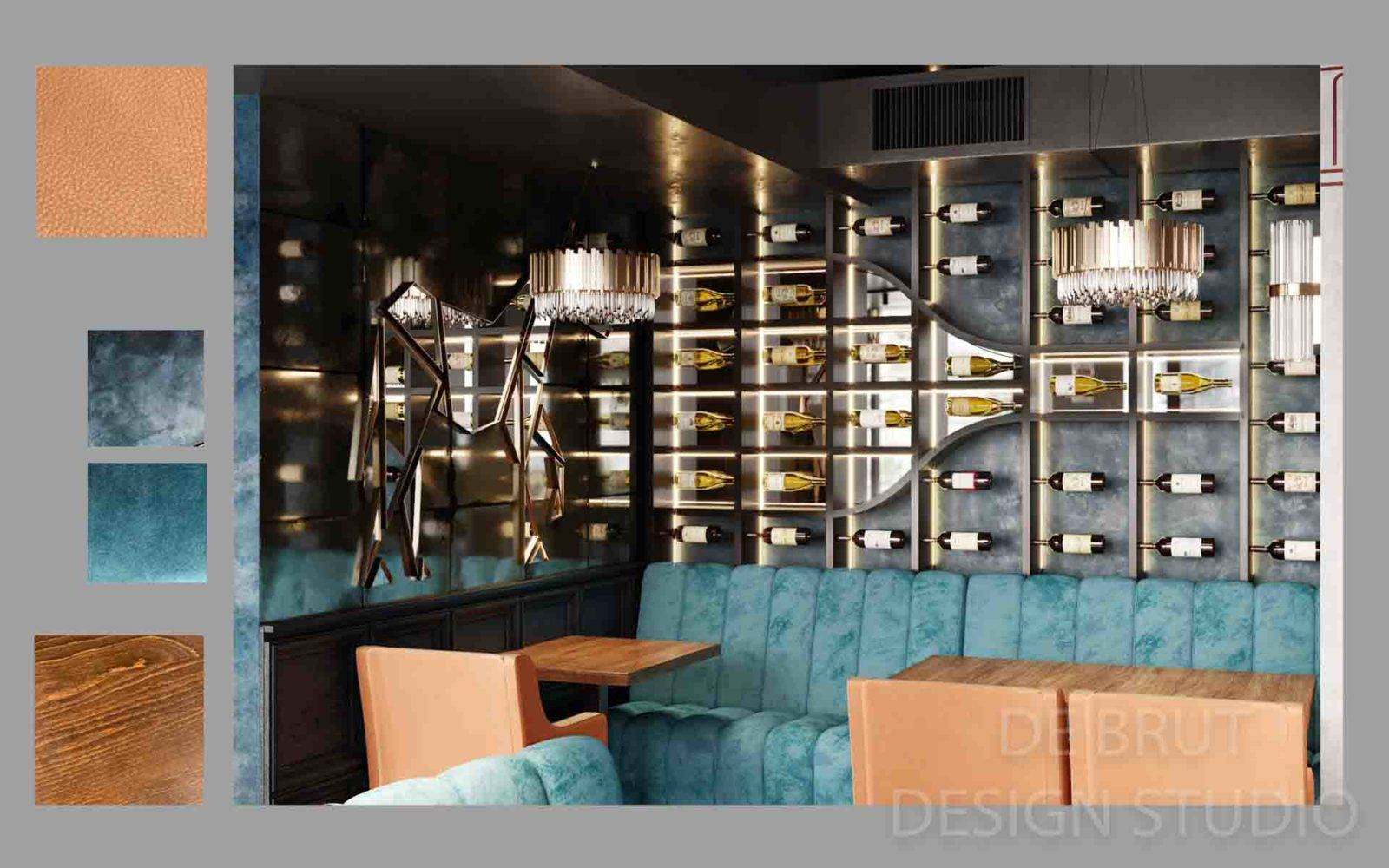 design interieru praha alex brut studio richman bussines bar 10 1 - Design interiéru restaurace Richman