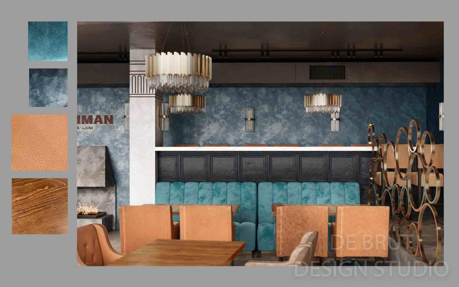 design interieru praha alex brut studio richman bussines bar 13 - Design interiéru restaurace Richman