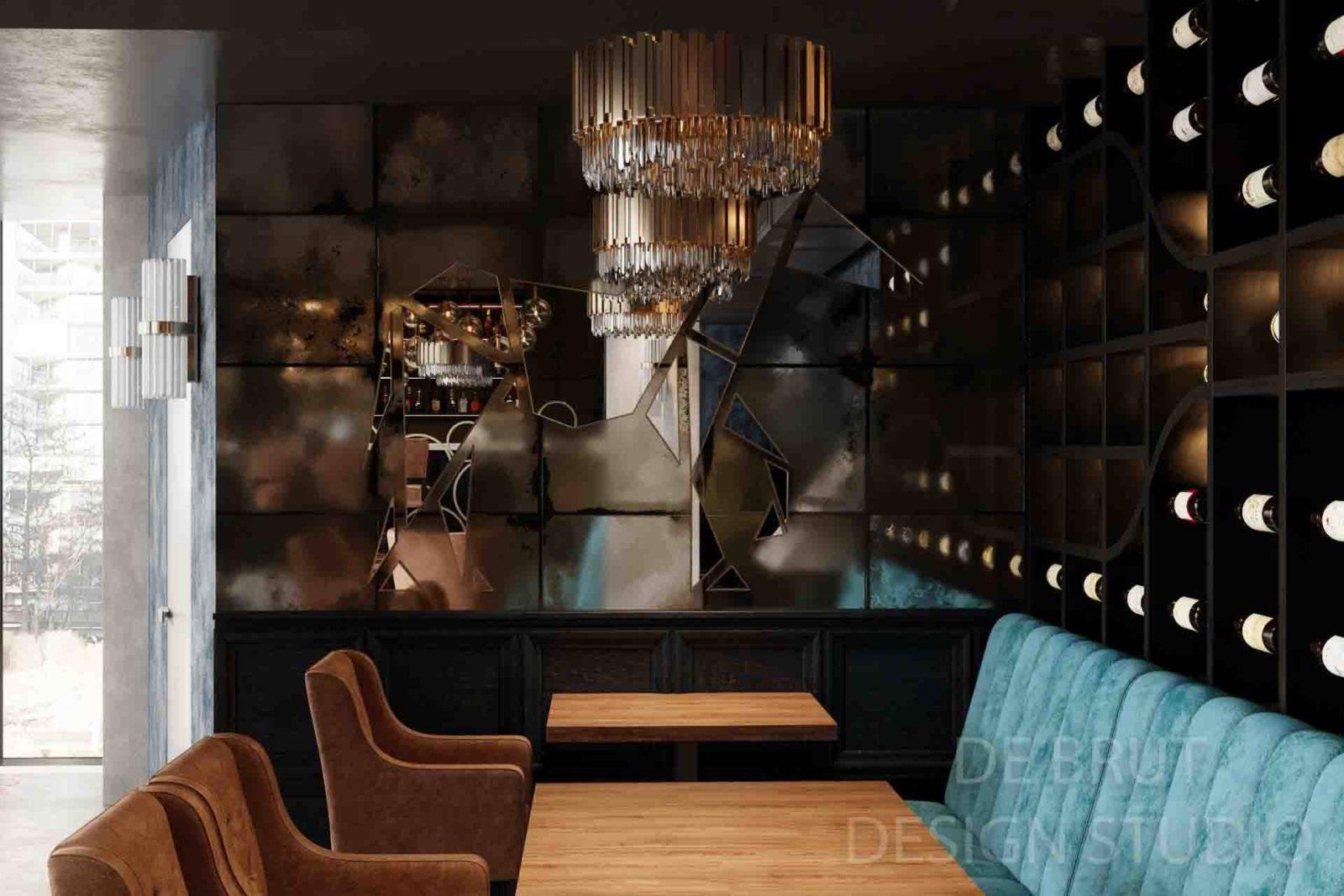 design interieru praha alex brut studio richman bussines bar 15 - Design interiéru restaurace Richman
