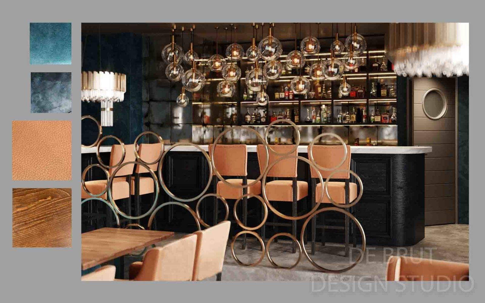 design interieru praha alex brut studio richman bussines bar 4 1 - Design interiéru restaurace Richman