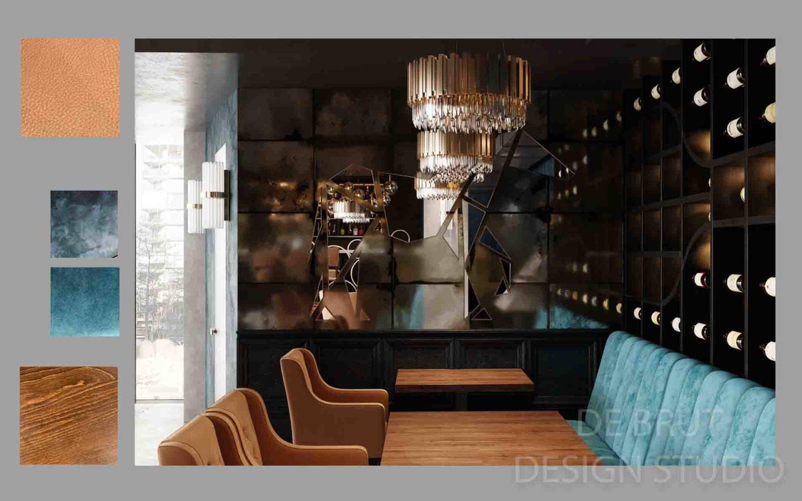 design interieru praha alex brut studio richman bussines bar 9 1 - Design interiéru restaurace Richman