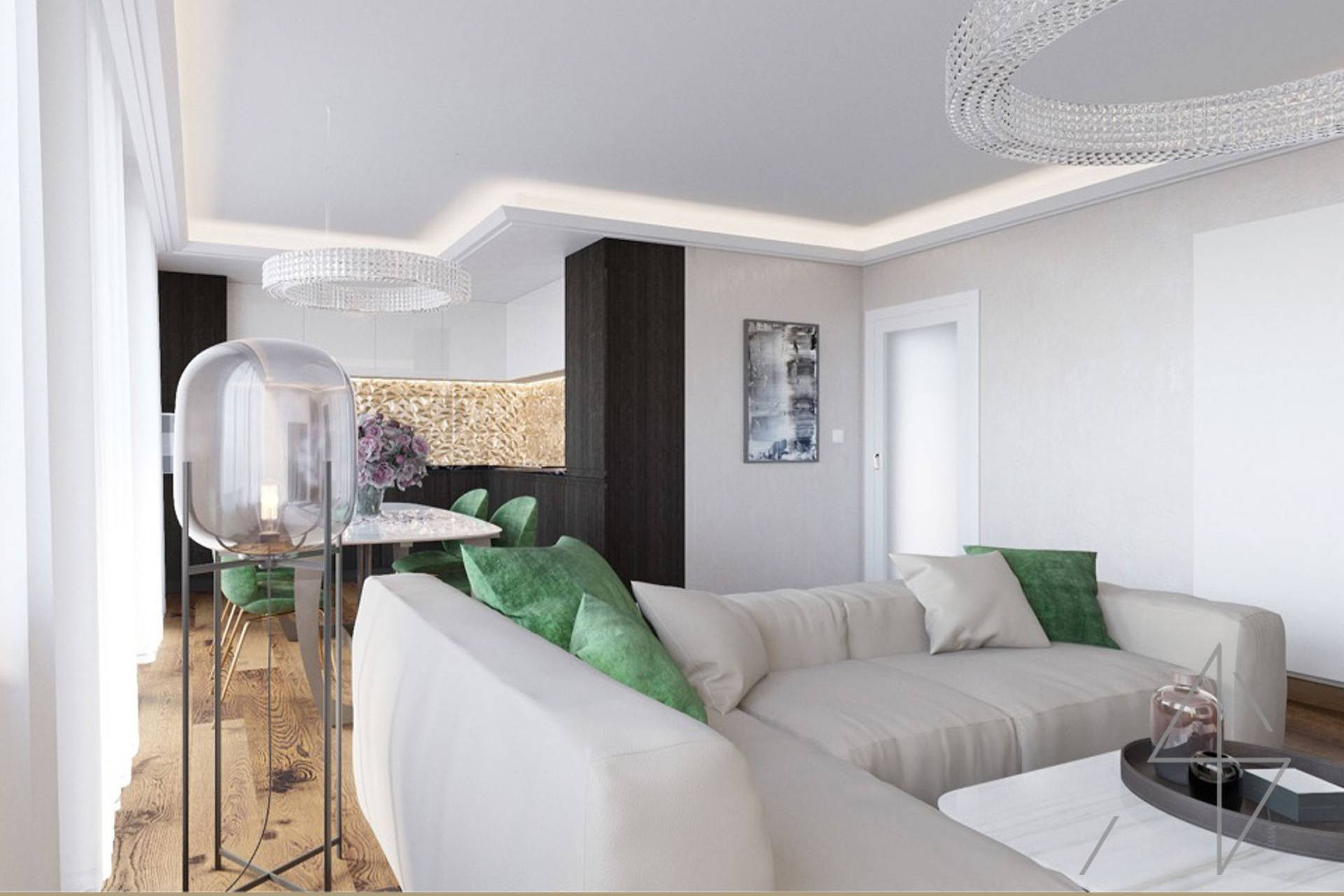 Visualization interior design Prague