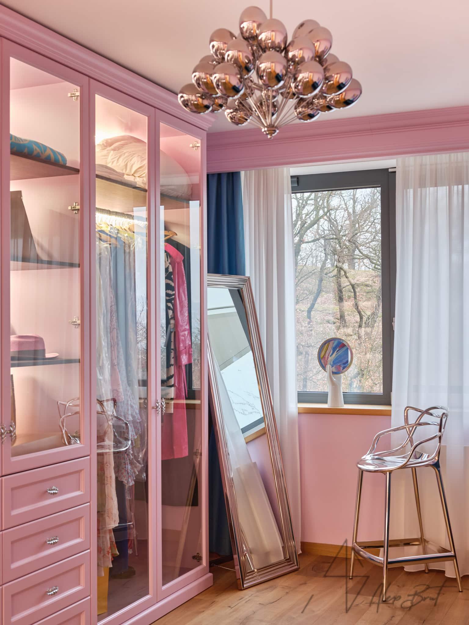 Návrh interiéru šatny